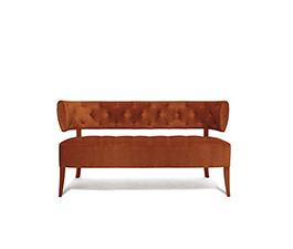 ZULU Velvet Sofa Mid Century Modern Furniture by BRABBU is a 2 seater sofa that brings prestige to any living room set.