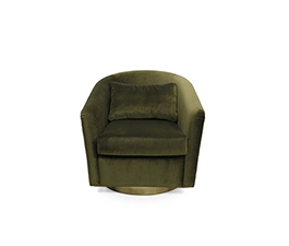 EARTH Velvet Armchair Modern Design by BRABBU brings the movement and the rhythm of the world into a modern home décor.