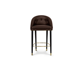 MALAY Counter Stool Mid Century Design by BRABBU is a velvet bar stool with a mystical soul.