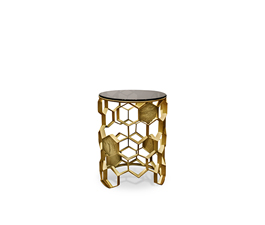 MANUKA | Brass Side Table Contemporary Design by BRABBU