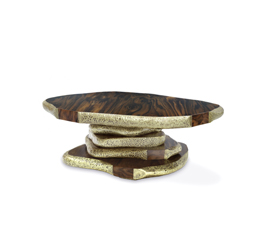 LATZA | Walnut Root Veneer Center Table Modern Design by BRABBU