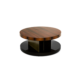 LALLAN Wood Coffee Table Mid Century Modern Design by BRABBU is an essential living room furniture for a modern home decor.