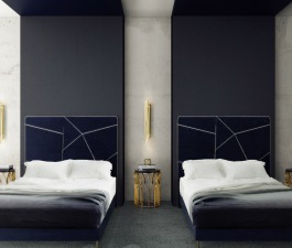 Designed by BRABBU, this Hotel in Berlin takes you on an incredible journey through some of the most interesting places and cultures around the world. When you step into the bedroom design, you find a