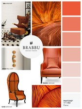 Flame is a flamboyant and vivacious red-based orange and definitely a spring color, which evokes the fiery heat that starts in spring to bring us into the summer.