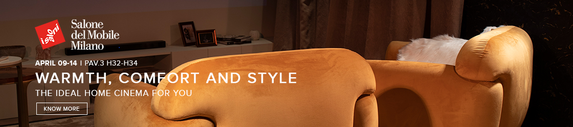 Home Cinema by BRABBU Design Forces isaloni 2019 iSaloni 2019: Come and Visit This Outstanding Stand HomeCinema ArticleBanner  iSaloni 2019:  Besuchen Sie diesen herausragenden Stand HomeCinema ArticleBanner