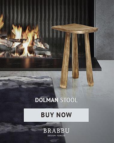 Dolmen Stool by BRABBU