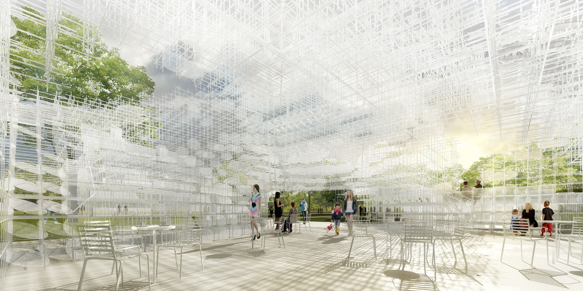 The Serpentine Gallery Pavilion 2013 will be design by Sou Fujimoto Serpentine Gallery Pavilion 2013 Serpentine Gallery Pavilion 2013 511cd309b3fc4b42d20001de sou fujimoto dise ar el serpentine gallery pavilion 2013 130204 interior  final press page1