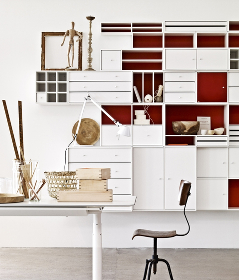 Stockholm Furniture Fair 2013: Top Exhibitors Minimalist white shelving system furniture by Montana
