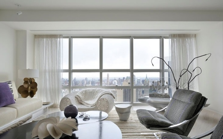 """""""This stunning luxury apartment has been designed by world renowned architect /designer Robert Couturier on the 59th floor of the Metropolitan Tower skyscraper, New York."""" Midtown Apartment by Robert Couturier Midtown Apartment by Robert Couturier image14"""