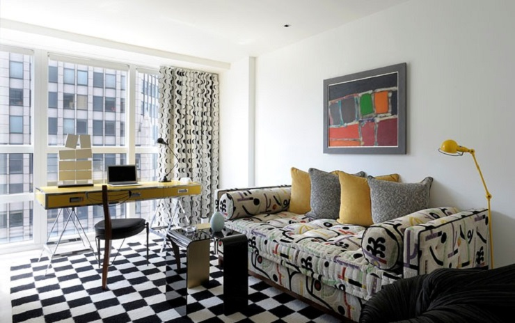 """""""This stunning luxury apartment has been designed by world renowned architect /designer Robert Couturier on the 59th floor of the Metropolitan Tower skyscraper, New York."""" Midtown Apartment by Robert Couturier Midtown Apartment by Robert Couturier image18"""