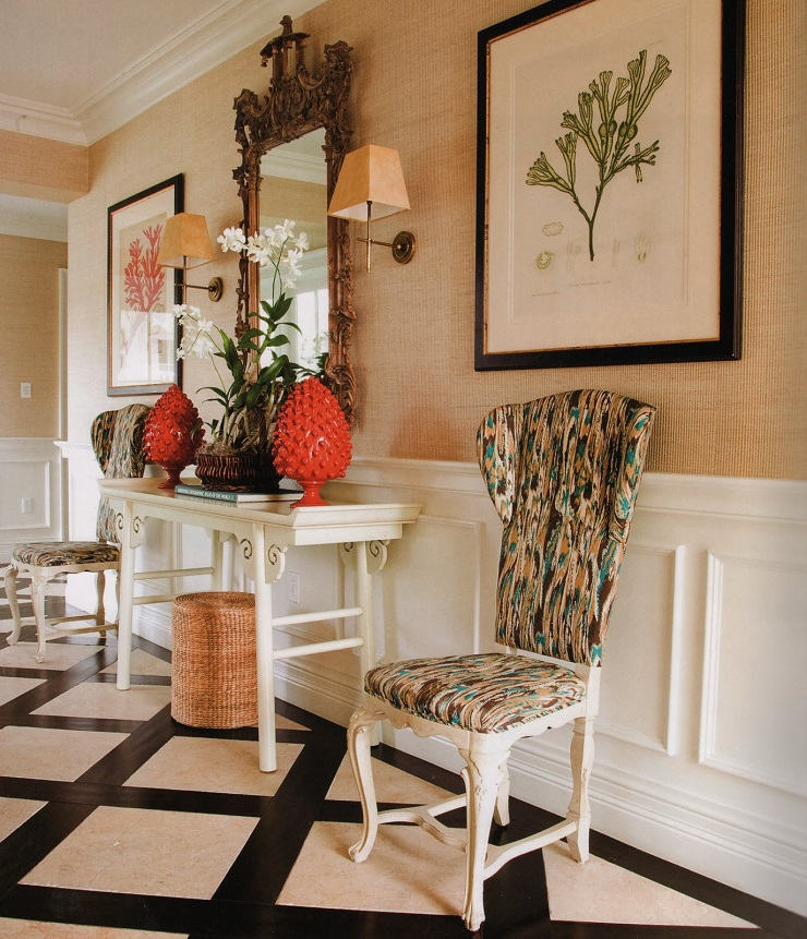 This living room is a a loosely woven fabric of desires, memories, practical, notions, and even compromises  Designer Spotlight: Celerie Kemble orangeck1