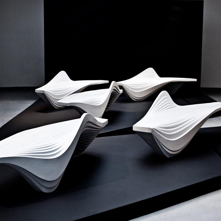 Zaha Hadid Furniture Designs: Serac Bench By Zaha Hadid – Furniture – BRABBU