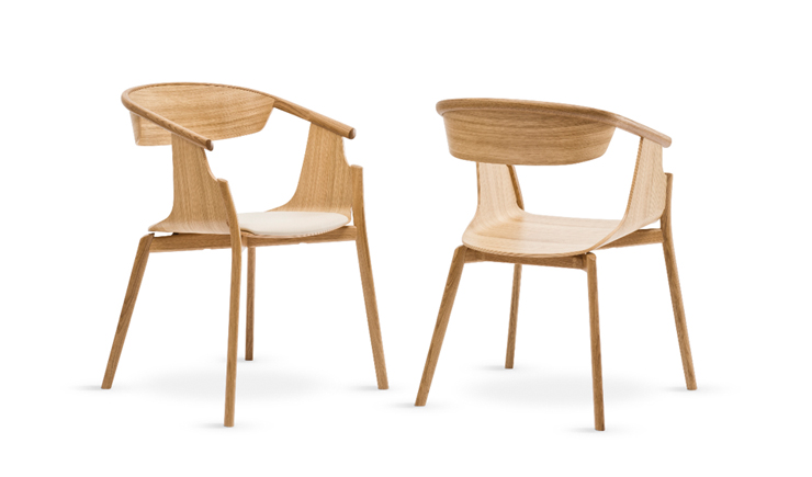"""""""The project, Norse Chair, is a minimalist design chair created by the designer for the British furniture brand Modus. The chair was presented at the Modus stand at Edit by Designjunction in Milan, last month"""" Norse Chair by Simon Pengelly Norse Chair by Simon Pengelly Norse Chair 3"""