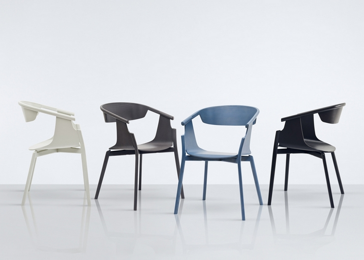 """""""The project, Norse Chair, is a minimalist design chair created by the designer for the British furniture brand Modus. The chair was presented at the Modus stand at Edit by Designjunction in Milan, last month"""" Norse Chair by Simon Pengelly Norse Chair by Simon Pengelly Norse Chair"""