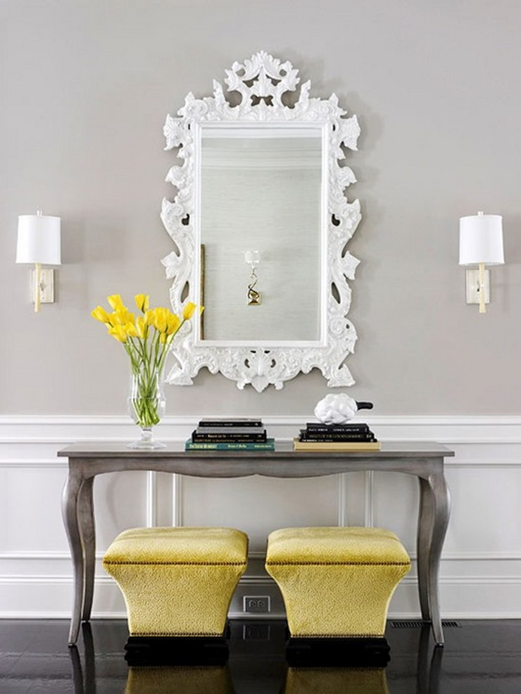 Console and mirror bhg brabbu design forces for Console table decor ideas