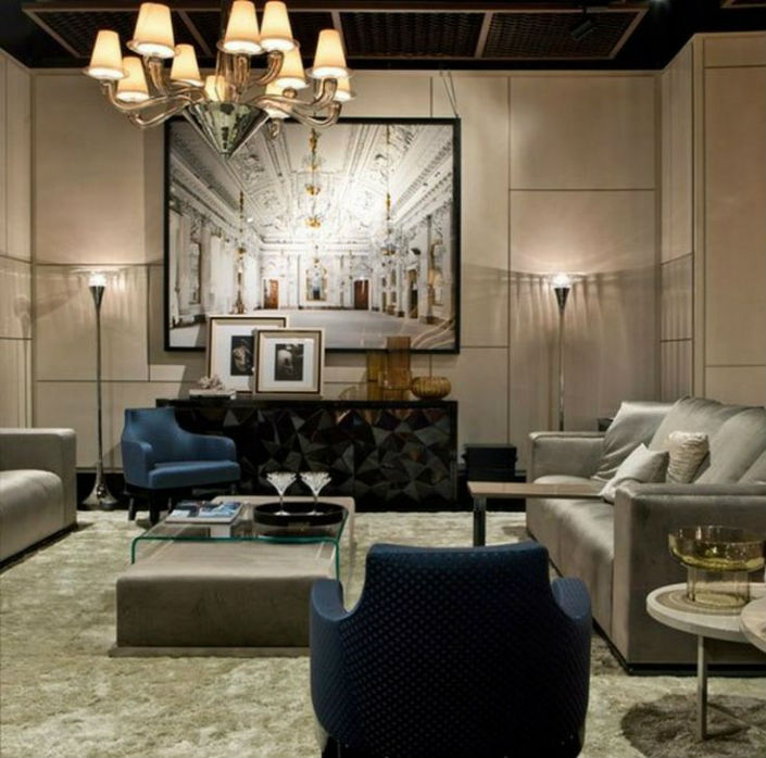 Living Room Furniture North York: Fendi Casa, Opens Its First Showroom At New York City