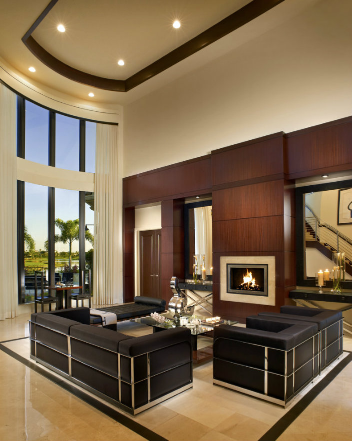 modern luxury living room contemporary fireplaces for luxury living rooms 15736