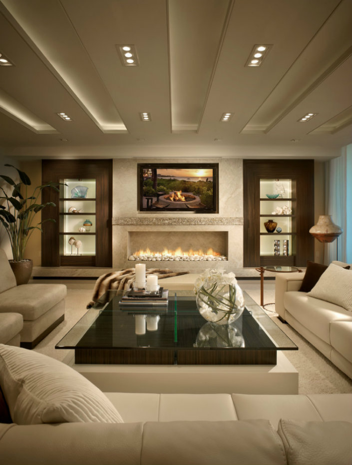 luxury modern living room contemporary fireplaces for luxury living rooms 16137