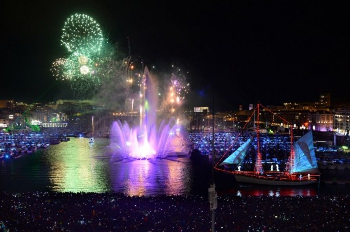 """""""Celebrating New Year 2014-Marseille- France- Pyrotechnic show in the Vieux Port"""" Celebrating the new year 2014 Celebrating the new year 2014 Celebrating New Year 2014 Marseille France Pyrotechnic show in the Vieux Port e1388666766429"""
