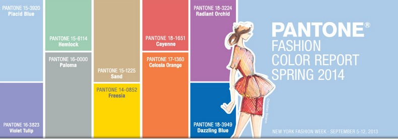 """Pantone presented the Fashion Color report Spring 2014 by Pantone. This season designers will take a modern twist of the tradicional colors for spring. """