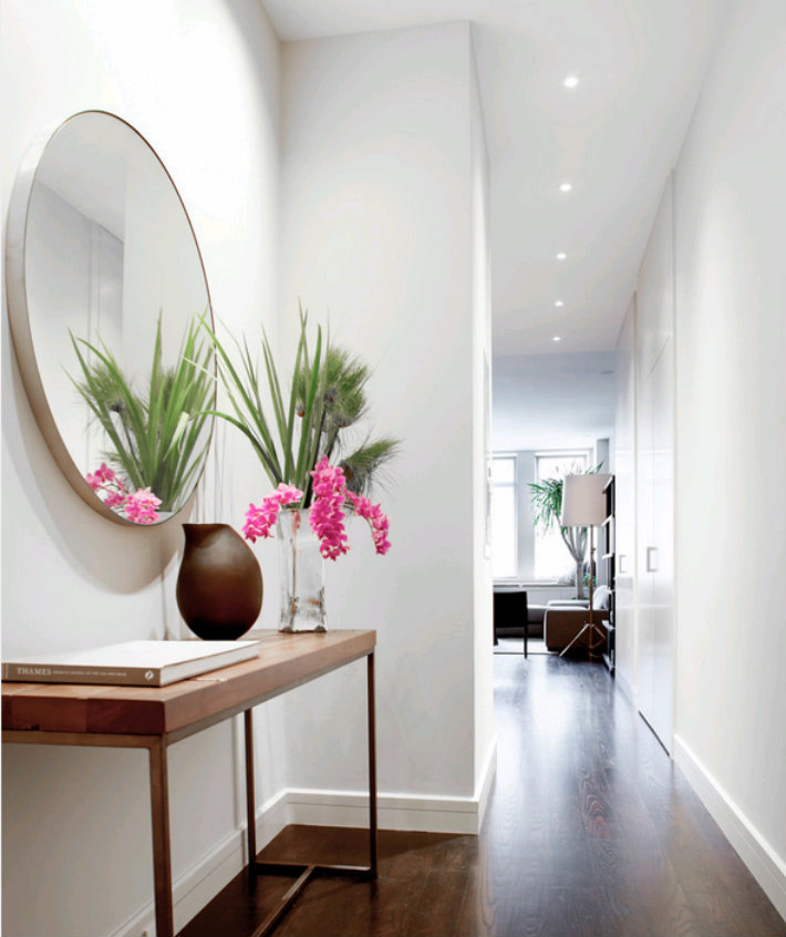Fantastic 5 beautiful entrance halls with a round mirror WN06