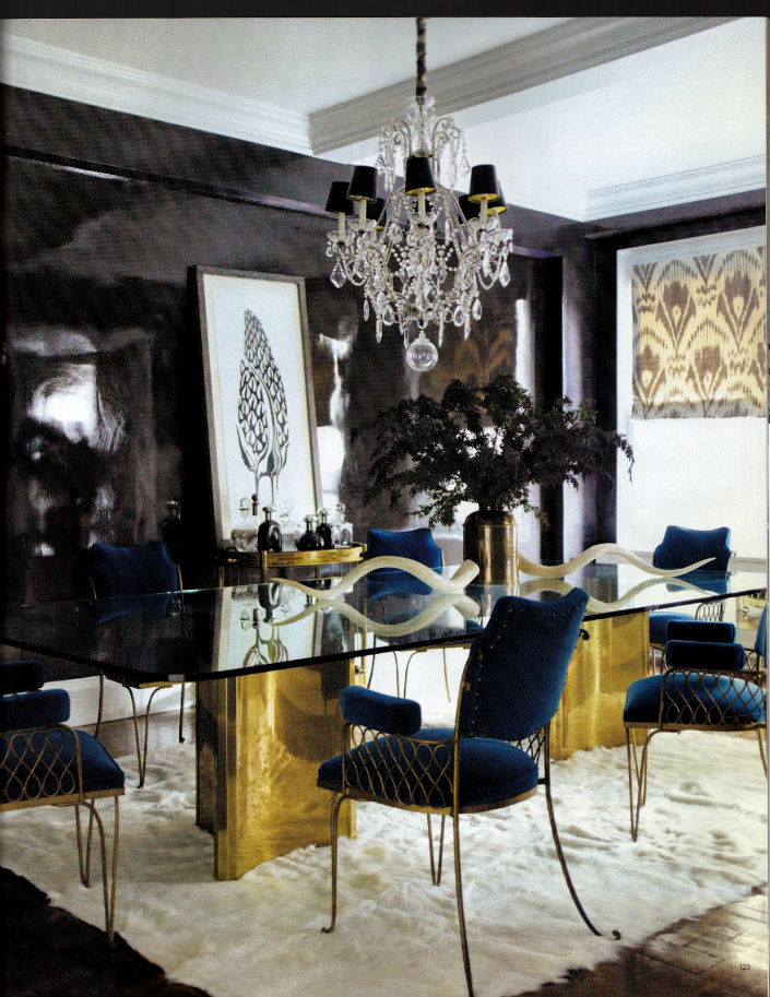 6 ELEGANT DINING ROOM TABLES IN BRASS