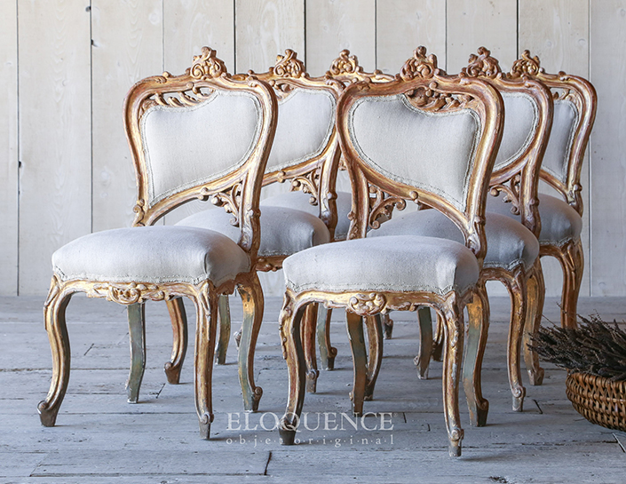 6 Beautiful Vintage Dining Room Chairs, Vintage Dining Room Sets