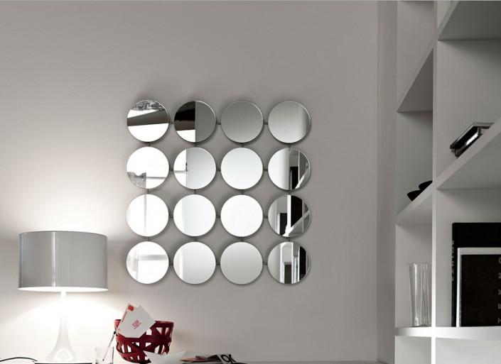 Exceptional Designer Mirrors For Living Rooms Part - 6: Ideas To Use A Round Mirror In Large Living Room