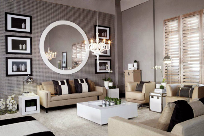 living rooms with mirrors 8 ideas to use a mirror in a large living room 16544