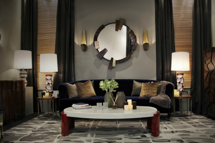 8 Ideas To Use A Round Mirror In Large Living Room