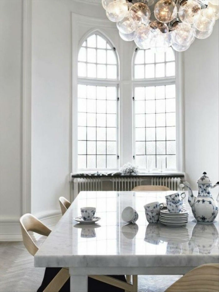Carrara Marble Dining Table For