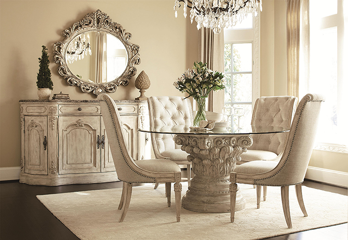 How To Place A Rug With Round Dining Table 6