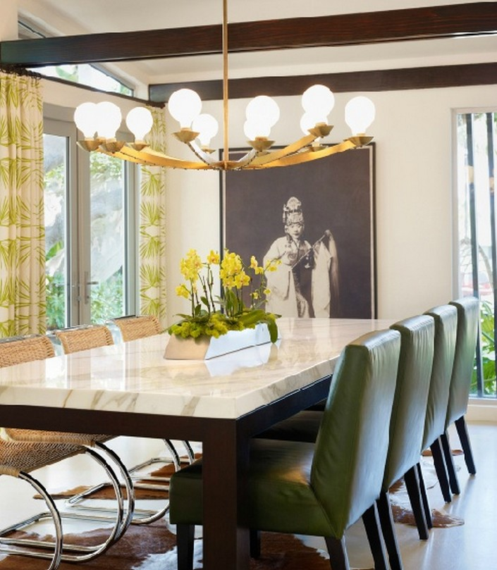 The magnificience in having a marble dining table
