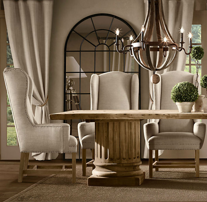 The Most Comfy Upholstered Dining Room, Upholstered Living Room Chairs With Arms