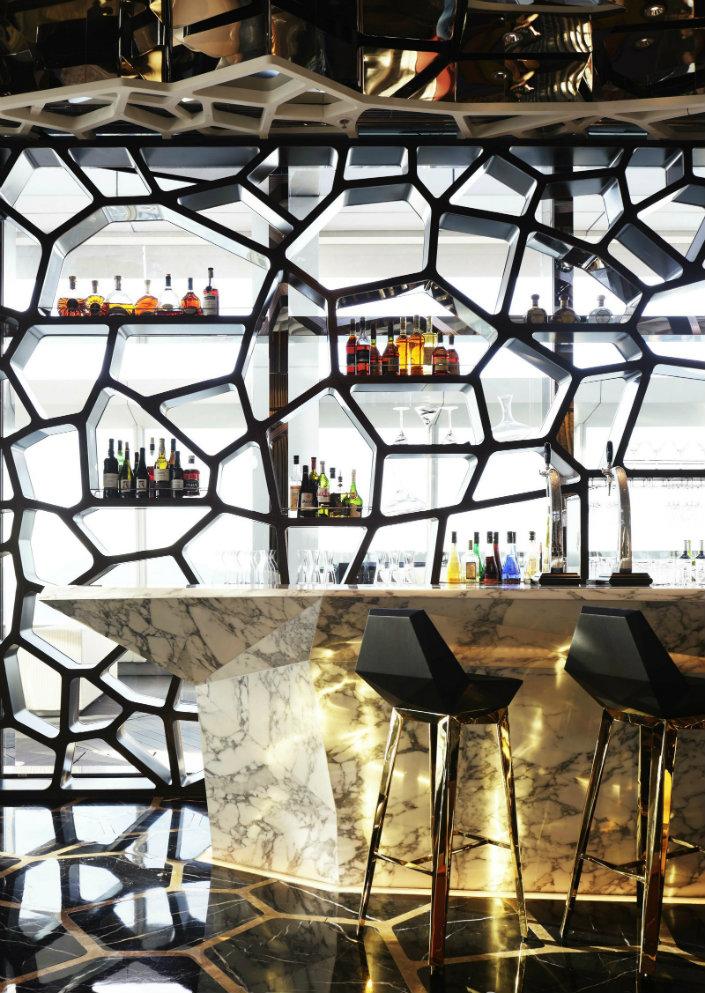 The latest back bar stools design ideas for restaurants for Bar back plans