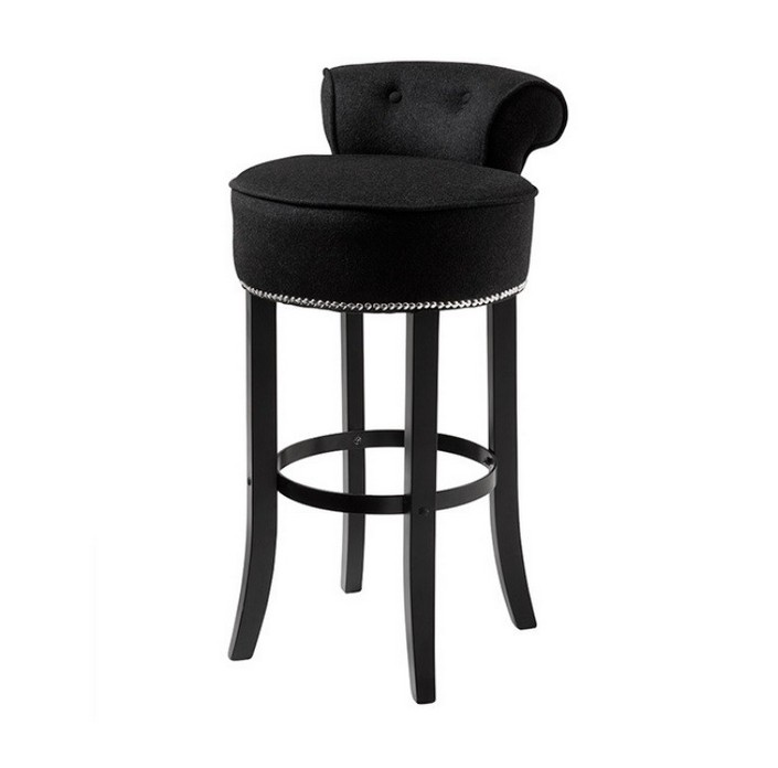 Usually we listen about bar stools, but now the trend is bar chairs.  8 beautiful modern bar chairs in velvet 8 beautiful modern bar chairs in velvet black velvet bar chair with nails1