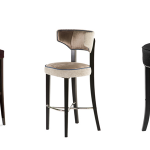 8 beautiful modern bar chairs in velvet