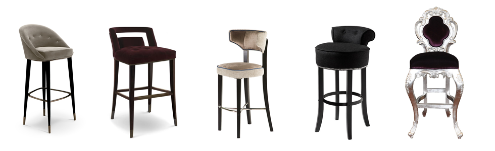 8 beautiful modern bar chairs in velvet, season trends, interior design industry, residential projects, hospitality projects, bar stools, Interiors, BRABBU
