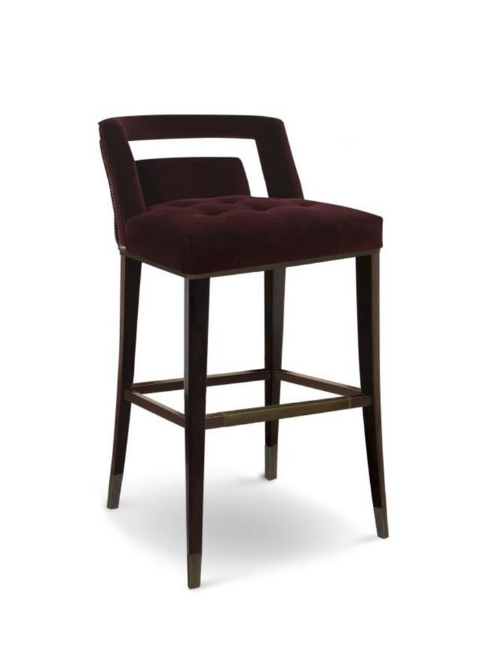 Usually we listen about bar stools, but now the trend is bar chairs.  8 beautiful modern bar chairs in velvet 8 beautiful modern bar chairs in velvet modern velvet counter stool