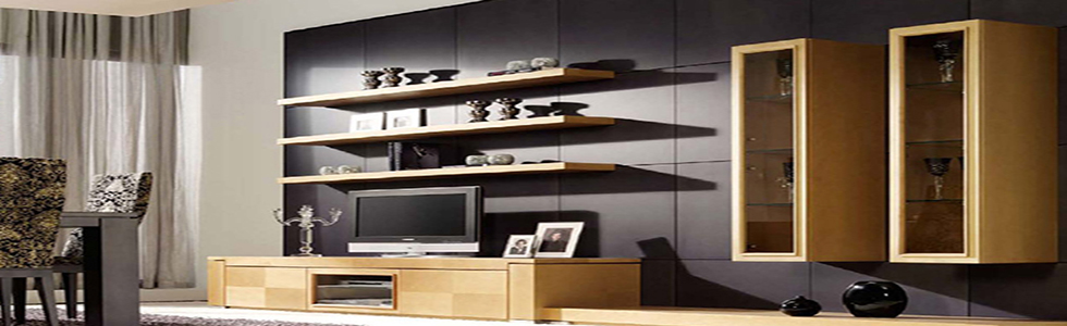 5contemporary living room bookshelves
