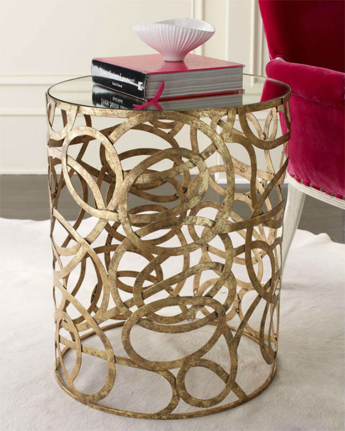 Hotel Furniture 2015 trends: Top 5 (gold side table) ideas