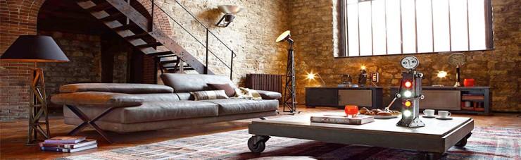 5 Industrial brass lamp for modern living room