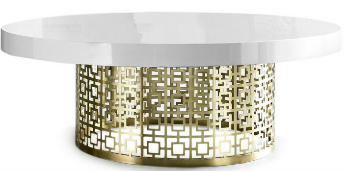 """""""5 round coffee tables in brass for a Chic living room-Jonathan Adler"""" 5 round coffee tables in brass for a Chic living room 5 round coffee tables in brass for a Chic living room 5 round coffee tables in brass for a Chic living room Jonathan Adler"""