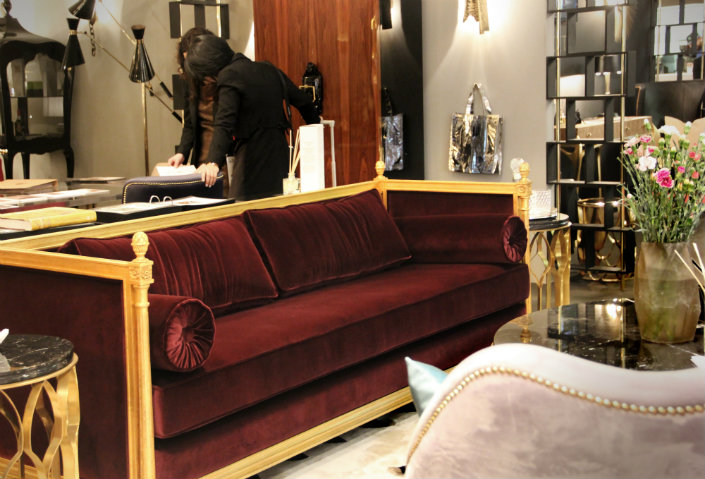 Add High Luxury To Your Modern Living Room With A Velvet Sofa