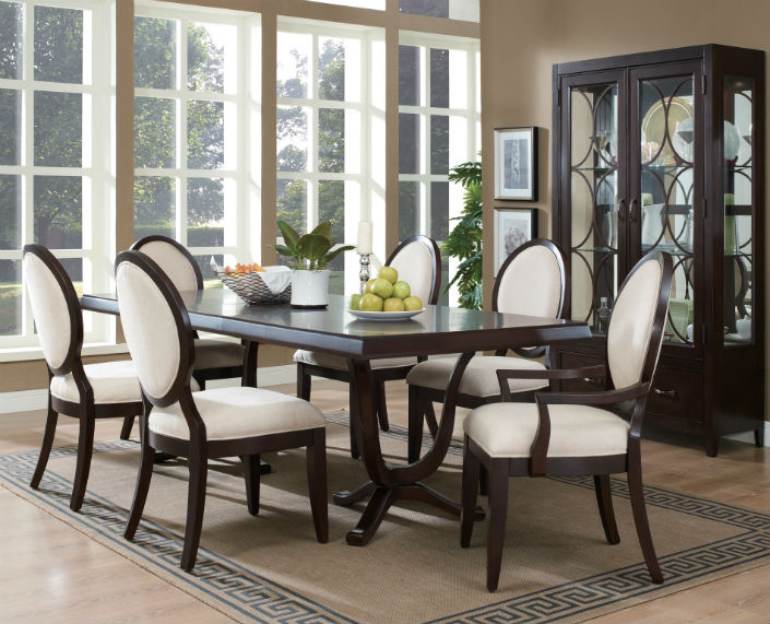 Dining Room 6 Chairs Part - 23: Dining Room Decor Ideas The Elegancy Of A Dining Table And 6 Chairs 4 Dining  Room
