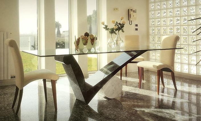 Top 3 Glass Dining Table And 6 Chairs For Modern Dining Rooms 8 Brabbu Design Forces