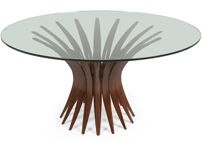 Pedestal Dining Table With Gl Top 4