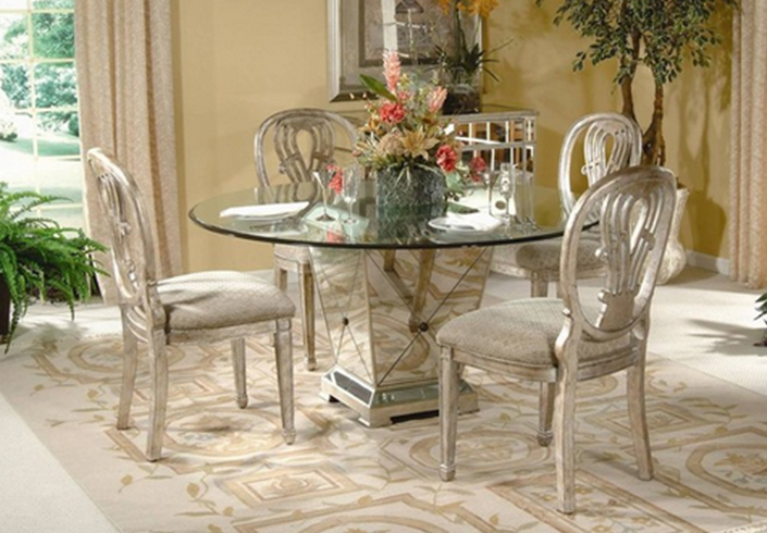 Pedestal Dining Table With Gl Top 5