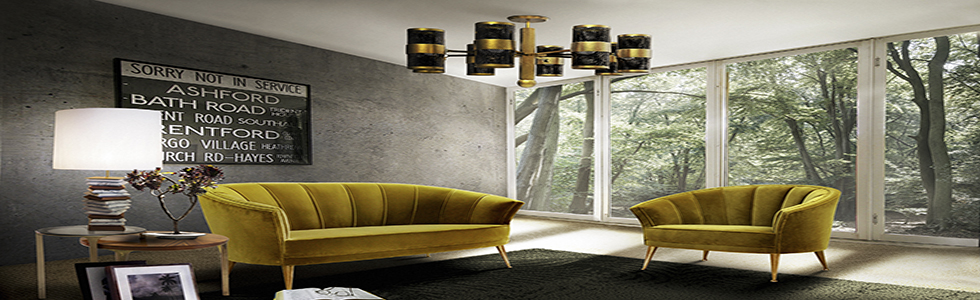 HOW TO DECORATE A BIG LIVING ROOM with brass lamps