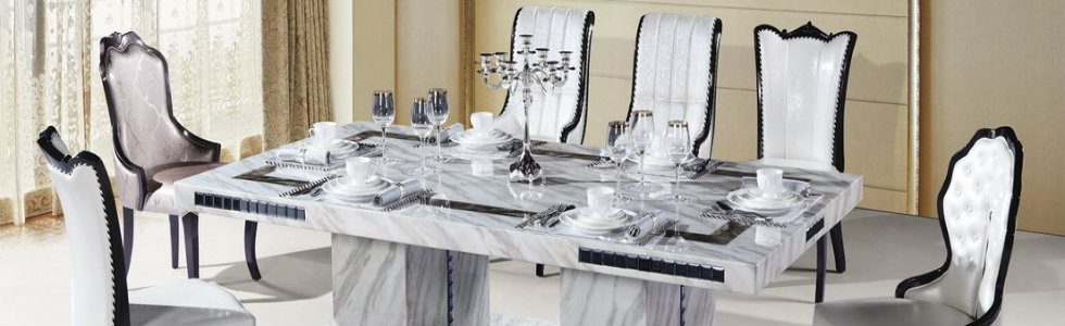 Carrara Marble Dining Table For Classical Dining Rooms
